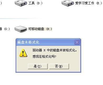 U盘提示未格式化